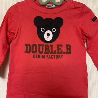 DOUBLE.B - ミキハウス ダブルB 長袖Tシャツ 90センチ