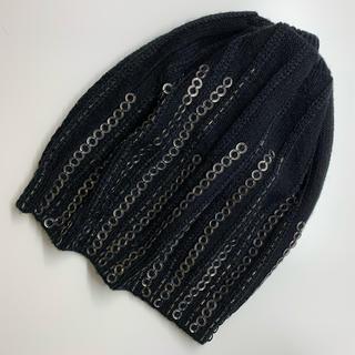ディーゼル(DIESEL)のディーゼル DIESEL ニット帽 ニットキャップ 黒(ニット帽/ビーニー)
