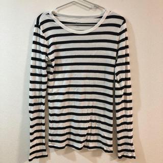 ギャップ(GAP)のGAP レディース ボーダーTシャツ XXSサイズ(日本S)(Tシャツ(長袖/七分))