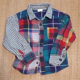 エフオーキッズ(F.O.KIDS)の110センチ チェックシャツ(ブラウス)
