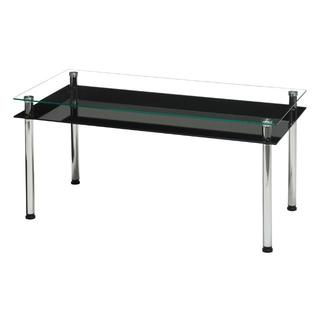 新品 送料無料 3WAYガラステーブル幅80 ブラック(ローテーブル)
