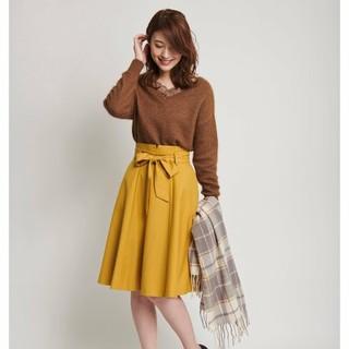 ノエラ(Noela)の太ベルトカラースカート(ひざ丈スカート)