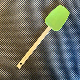 ルクルーゼ(LE CREUSET)のLE CREUSET ル・クルーゼ スパチュラ グリーン(調理道具/製菓道具)