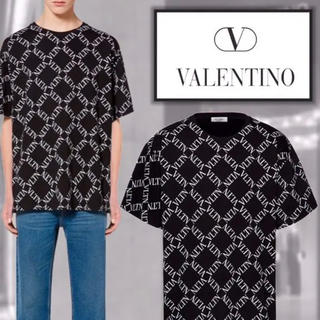 VALENTINO - 新品 VLTNグリッドコットンクルーネックTシャツ バレンティーノ 他サイズあり