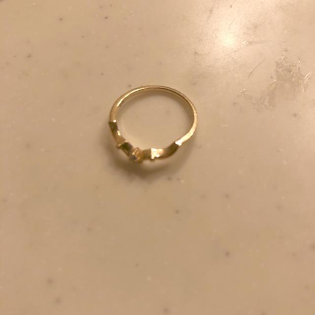 agete(アガット)のagete  アガット  k10  ダイヤ ピンキーリング    レディースのアクセサリー(リング(指輪))の商品写真