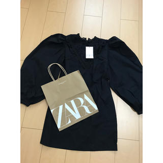 ZARA - ZARA   パフスリーブ  ポプリンワンピース  ザラ 完売品