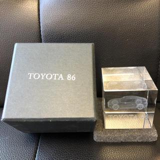トヨタ(トヨタ)のトヨタ86クリスタルペーパーウェイト(模型/プラモデル)