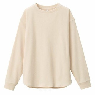 MUJI (無印良品) - 【新品タグ付き】無印良品 ワッフル 長袖Tシャツ ライトベージュ Mサイズ