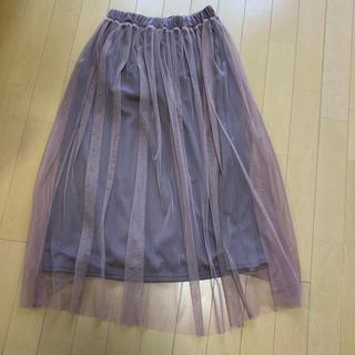 ショコラフィネローブ(chocol raffine robe)のチュールスカート(ロングスカート)