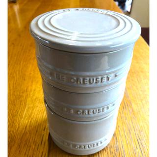 ルクルーゼ(LE CREUSET)の【新品】ル・クルーゼ スタッキング・ラムカン・セット ホワイトラスター(容器)