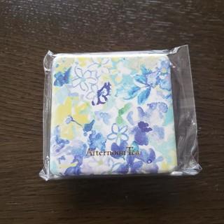 アフタヌーンティー(AfternoonTea)の【新品】Afternoon Tea フラワー柄ミニミラー 青(ミラー)