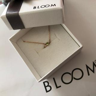 ブルーム(BLOOM)のBLOOM 8月誕生石×シルバーネックレス(ネックレス)