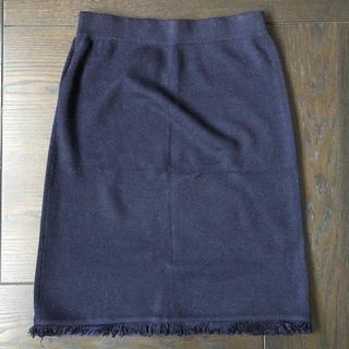 ロデオクラウンズワイドボウル(RODEO CROWNS WIDE BOWL)のロデオ フリンジニットスカート(ひざ丈スカート)