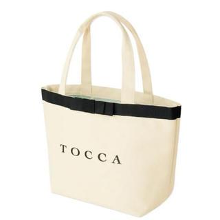 トッカ(TOCCA)のTOCCA リボン付きキャンバストートバッグ(トートバッグ)