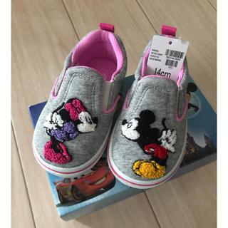 ディズニー(Disney)のミッキーミニースリッポン❁︎新品14㎝(スリッポン)