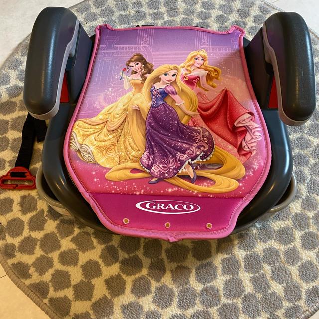 Greco(グレコ)のグレコ ジュニアシート プリンセス キッズ/ベビー/マタニティの外出/移動用品(自動車用チャイルドシート本体)の商品写真