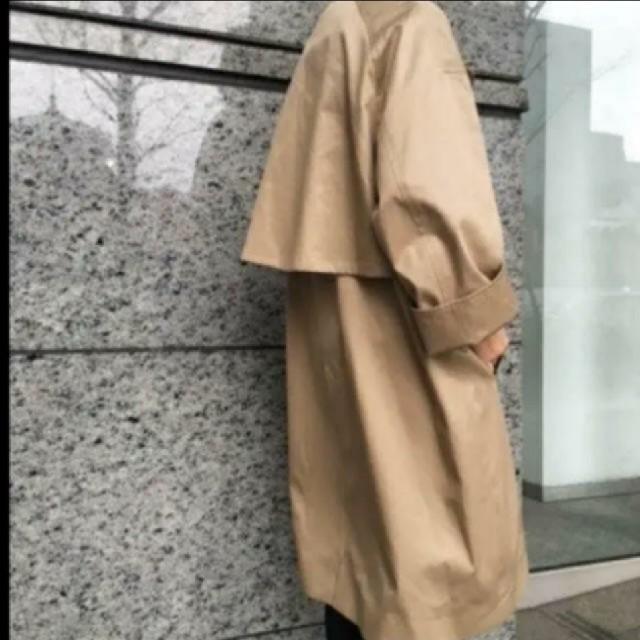 DEUXIEME CLASSE(ドゥーズィエムクラス)のギャバトレンチコート レディースのジャケット/アウター(トレンチコート)の商品写真