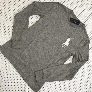 ラルフローレン(Ralph Lauren)のラルフローレン メンズビッグポニー長袖Tシャツ グレーS(Tシャツ/カットソー(七分/長袖))