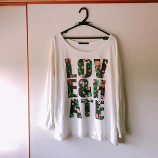 ヘザー(heather)のheather トップス ロゴTシャツ(Tシャツ(長袖/七分))