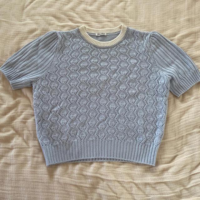 miumiu(ミュウミュウ)の新品 ミュウミュウ ニット 40サイズ  レディースのトップス(ニット/セーター)の商品写真
