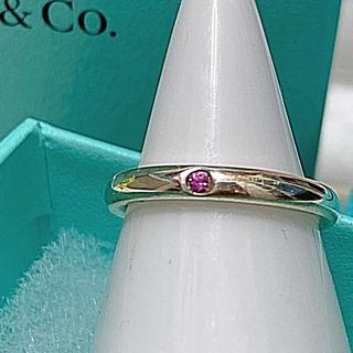 Tiffany & Co. - お値下げTiffany  ピンクサファイアバンドリング 11号