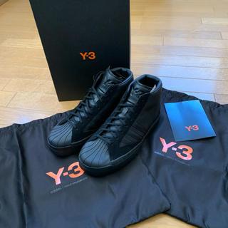 Y-3 - Y-3新品未使用国内正規品ハイカットブラックスニーカーYOHJI PRO★27