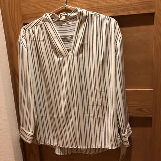 ViS - 新品 ブラウス ストライプシャツ オフィスカジュアル