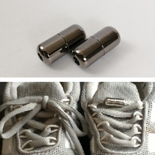 結ばない靴紐 1足用 メタリックブラック