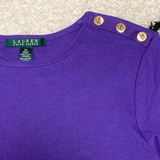 ラルフローレン(Ralph Lauren)のパープルカットソー(Tシャツ(長袖/七分))