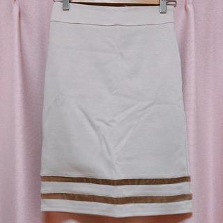サリア(salire)の【新品】salire 裾透けライン入りタイトスカート(ひざ丈スカート)