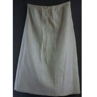 バーバリーブルーレーベル(BURBERRY BLUE LABEL)の【Burberrys】白バーバリーチェックロングスカート(ロングスカート)