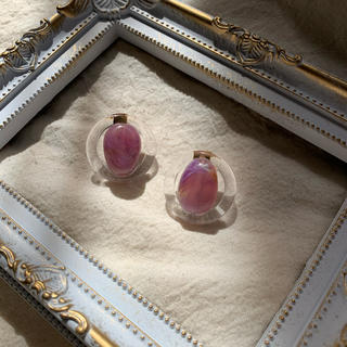 カスタネ(Kastane)の再∞販 clear × marble pierce(ピアス)