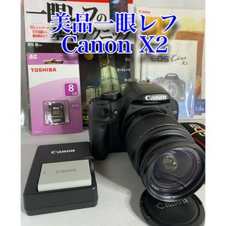 Canon - 美品一眼レフ Canon EOS kiss X2  wi-fiSD変更可