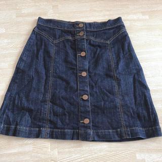 エイチアンドエム(H&M)の★H&M 台形デニムスカート(ミニスカート)