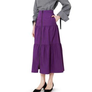 ルシェルブルー(LE CIEL BLEU)のルシェル美品スカート(ロングスカート)