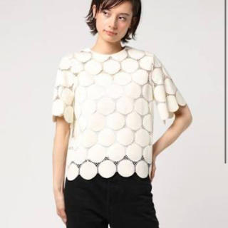 ルシェルブルー(LE CIEL BLEU)の20ss 新品未使用品大人気ドッドレーストップス(Tシャツ/カットソー(半袖/袖なし))