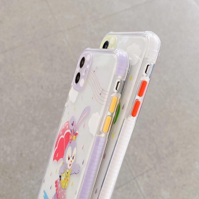 Disney(ディズニー)のダッフィー シェリーメイ ステラルー ジェラトーニ iPhoneケース スマホ/家電/カメラのスマホアクセサリー(iPhoneケース)の商品写真