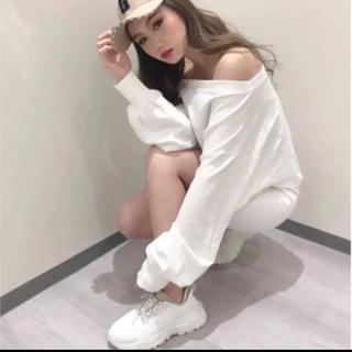 ジェイダ(GYDA)の【miyu様専用】GYDA ボリュームスニーカー Sサイズ ホワイト(スニーカー)