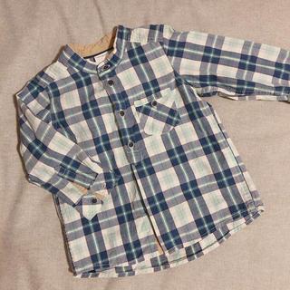 エイチアンドエム(H&M)のH&M 長袖チェックシャツ 80(シャツ/カットソー)