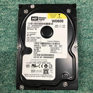 SATA中古HD(完動品) WesternDigital WD800 80.0G(PCパーツ)