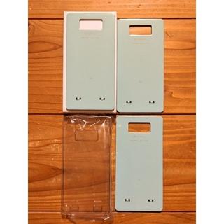 エルジーエレクトロニクス(LG Electronics)のOptimus LIFE L-02E リアカバー3枚(純正品)+クリアケース(Androidケース)