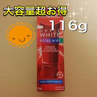 クレスト(Crest)のコルゲート オプティックホワイト ハイインパクト 歯磨き粉(歯磨き粉)