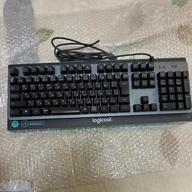 logicool k840 メカニカルキーボード スマホ/家電/カメラのPC/タブレット(PC周辺機器)の商品写真