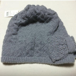 アンテプリマ(ANTEPRIMA)のアンテプリマ ニット帽 ライトグレー 未使用(ニット帽/ビーニー)