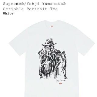 シュプリーム(Supreme)のMサイズ Supreme Yohji Scribble Portrait tee(Tシャツ/カットソー(半袖/袖なし))