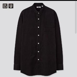 ユニクロユー コーデュロイワイドフィットスタンドカラーシャツ