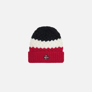 モンクレール(MONCLER)の国内正規品 MONCLER × KITH ニットキャップ トリコロール(ニット帽/ビーニー)