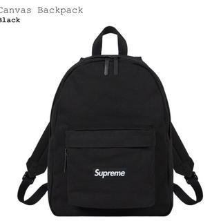 Supreme -  supreme Canvas Backpack 黒 ブラック バックパック