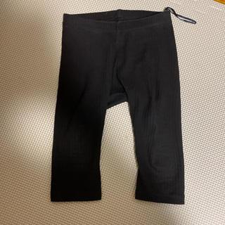 エイチアンドエム(H&M)のリブレギンス 黒(パンツ)