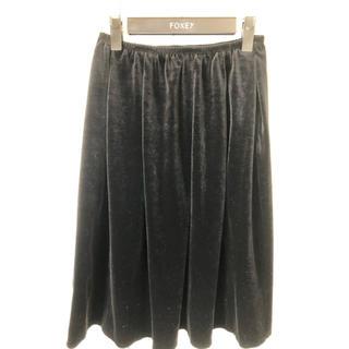 フォクシー(FOXEY)のフォクシーベロアスカート(ひざ丈スカート)